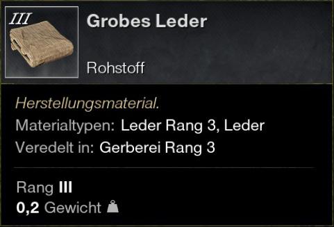 Grobes Leder