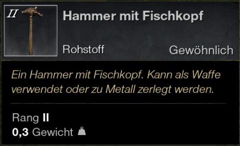 Hammer mit Fischkopf