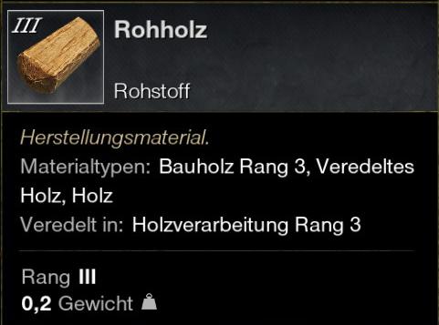 Rohholz