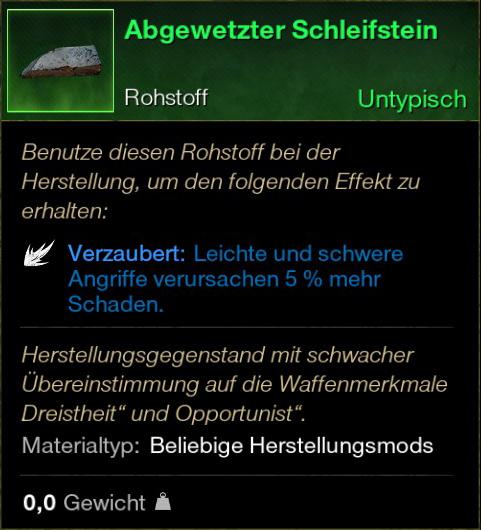 Abgewetzter Schleifstein