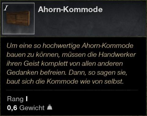 Ahorn Kommode