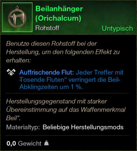 Beilanhänger (Orichalcum)
