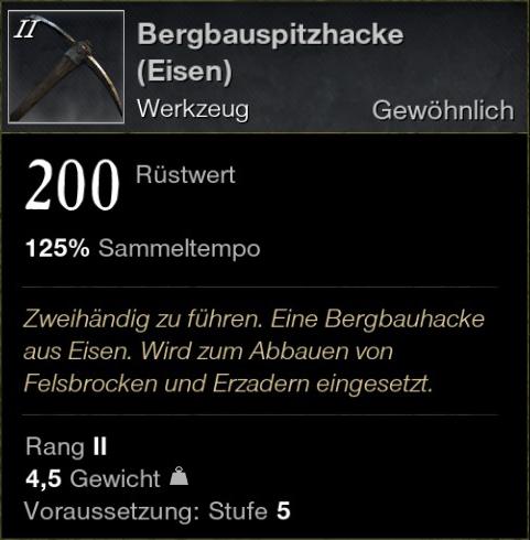 Bergbauhacke (Eisen)