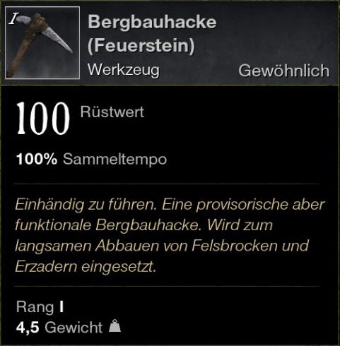 Bergbauhacke (Feuerstein)