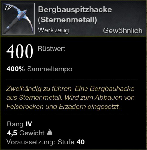 Bergbauspitzhacke (Sternenmetall)