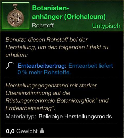 Botanisten Anhänger (Orichalcum)