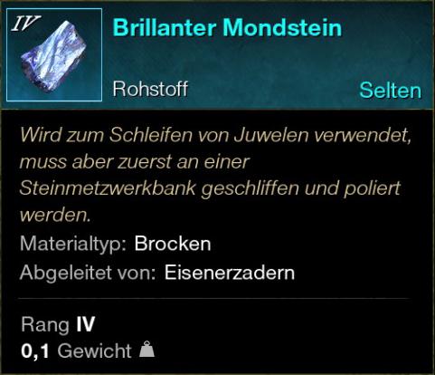 Brillanter Mondstein