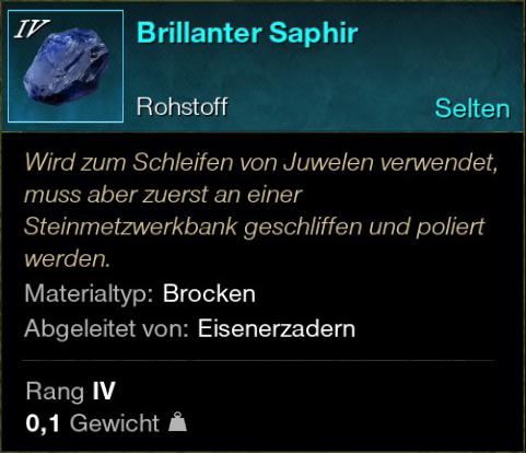 Brillanter Saphir
