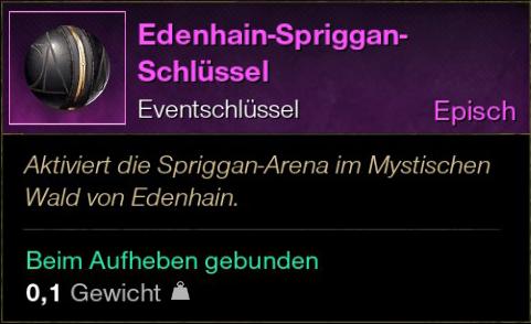 Edenhain-Spriggan-Schlüssel