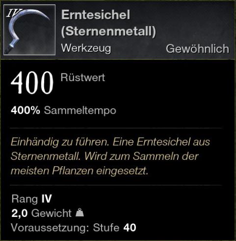 Erntesichel (Sternenmetall)