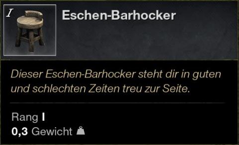 Eschen Barhocker