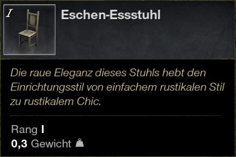 Eschen Essstuhl