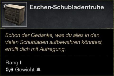 Eschen Schubladentruhe