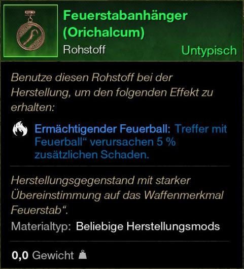 Feuerstabanhänger (Orichalcum)