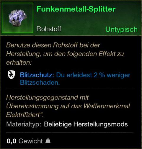 Funkenmetall Splitter