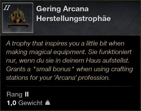 Gering Arcana Herstellungstrophäe
