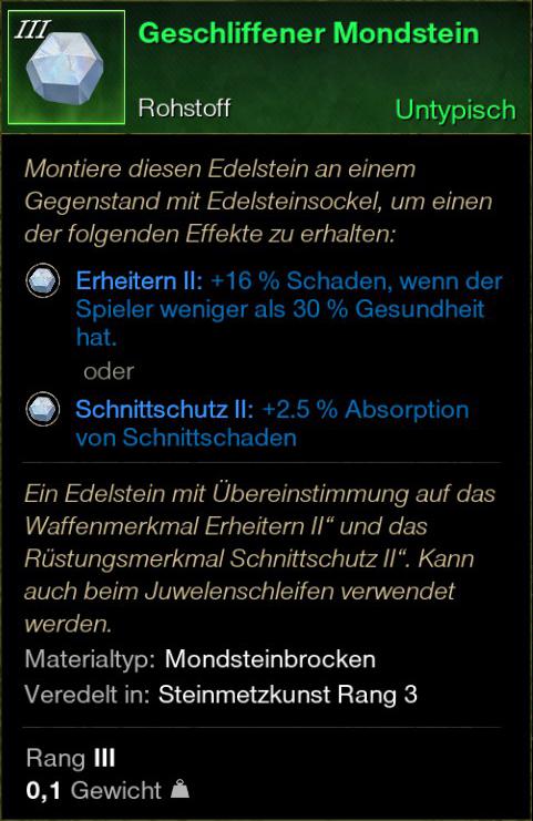 Geschliffener Mondstein