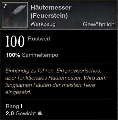 Häutemesser (Feuerstein)