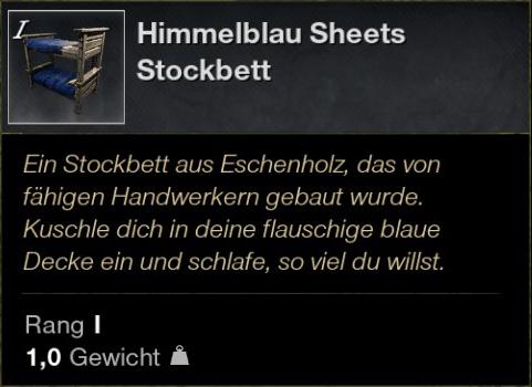 Himmelblau Sheets Stockbett