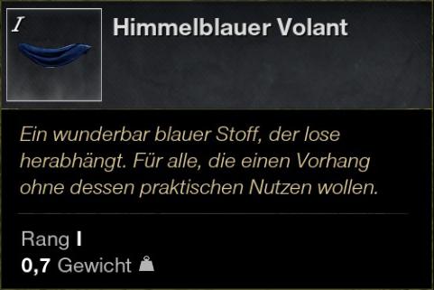 Himmelblauer Volant