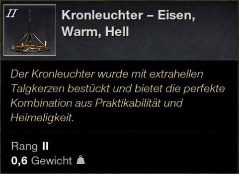 Kronleuchter – Eisen, Warm, Hell