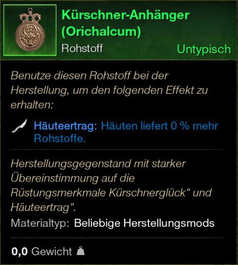 Kürschner Anhänger (Orichalcum)
