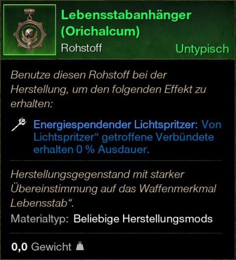 Lebensstabanhänger (Orichalcum)
