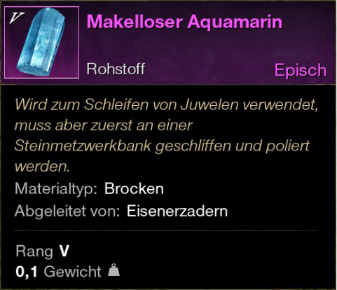 Makelloser Aquamarin