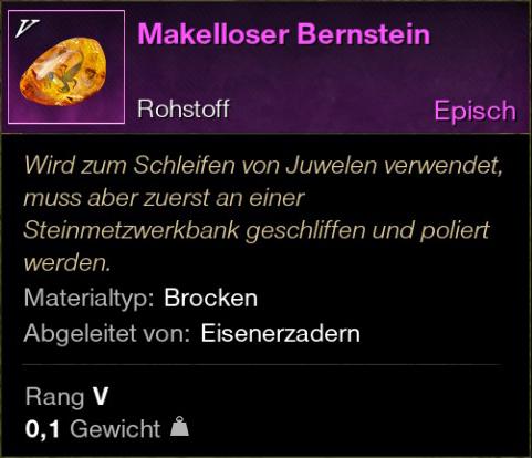 Makelloser Bernstein