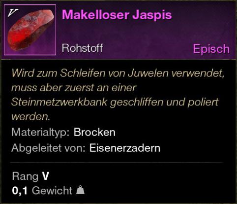 Makelloser Jaspis