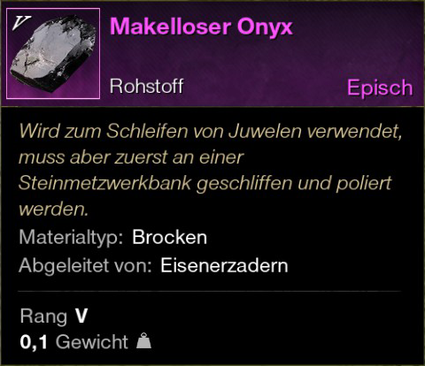 Makelloser Onyx