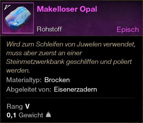 Makelloser Opal