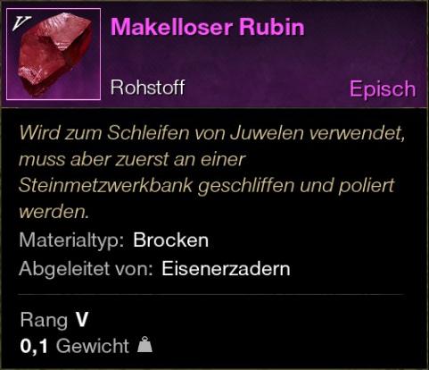 Makelloser Rubin