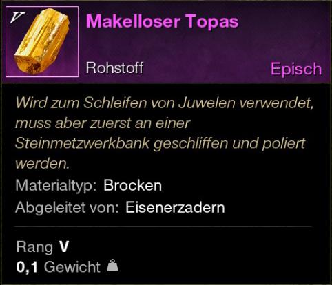 Makelloser Topas