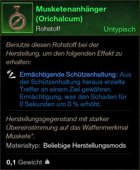 Musketenanhänger (Orichalcum)
