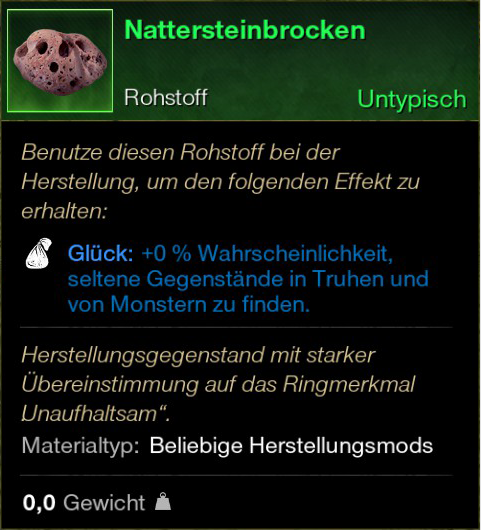Nattersteinbrocken