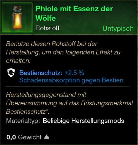 Phiole mit Essenz der Wölfe
