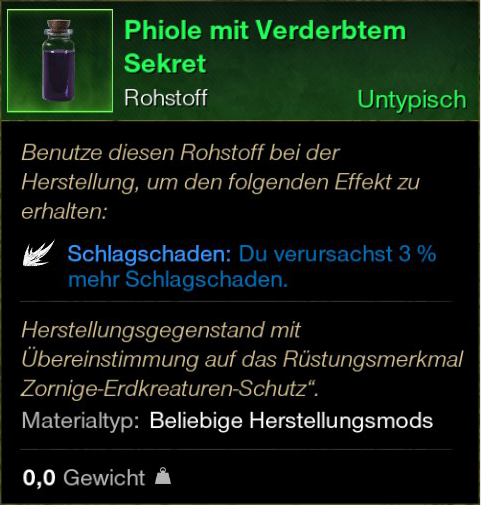 Phiole mit Verderbtem Sekret