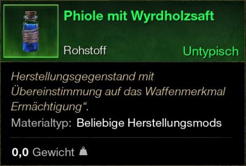Phiole mit Wyrdholzsaft