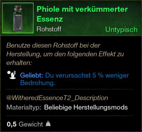Phiole mit verkümmerter Essenz
