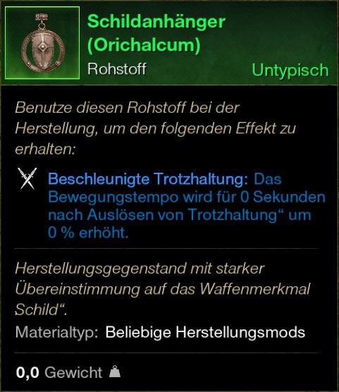 Schildanhänger (Orichalcum)