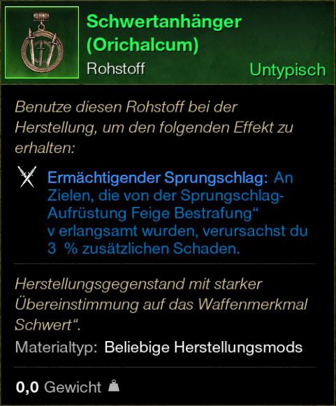Schwertanhänger (Orichalcum)