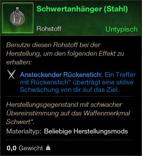 Schwertanhänger (Stahl)