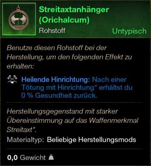 Streitaxtanhänger (Orichalcum)