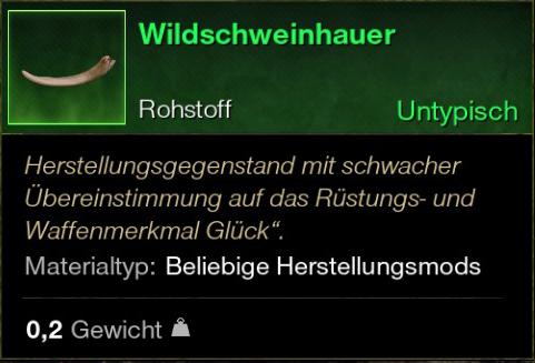 Wildschweinhauer