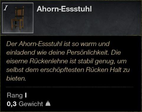 Ahorn Essstuhl