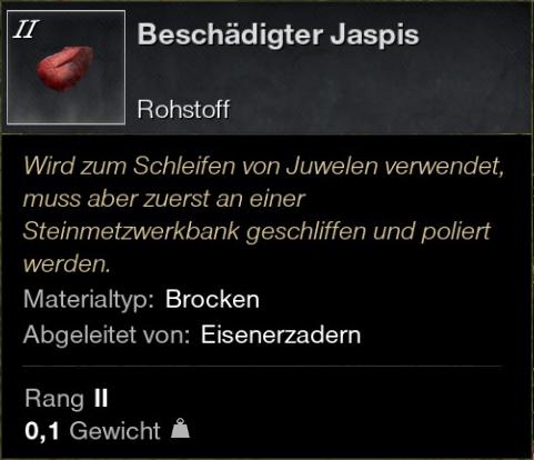 Beschädigter Jaspis
