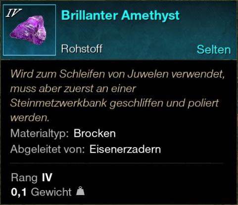 Brillanter Amethyst
