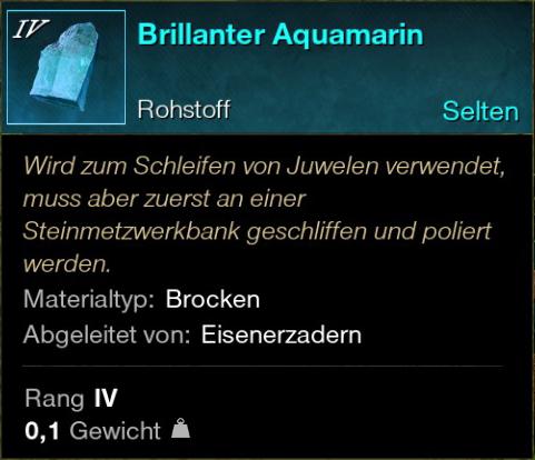 Brillanter Aquamarin