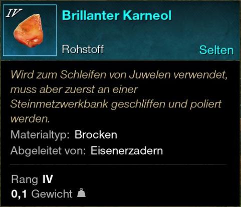 Brillanter Karneol